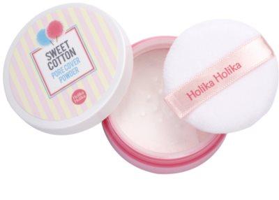 Holika Holika Sweet Cotton puder do wygładzenia skóry i zmniejszenia porów 2