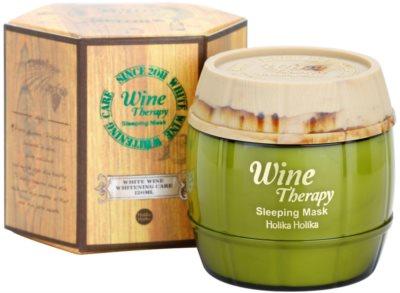 Holika Holika Wine Therapy noční hydratační maska 1