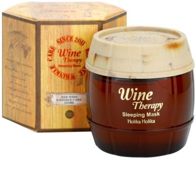 Holika Holika Wine Therapy noční maska proti vráskám 1
