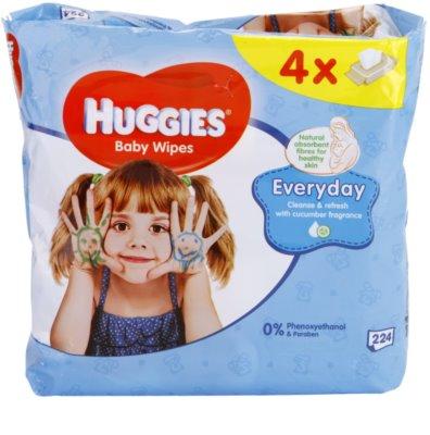 Huggies Everyday čisticí ubrousky na obličej a ruce