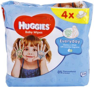 Huggies Everyday очищуючі серветки для обличчя та рук