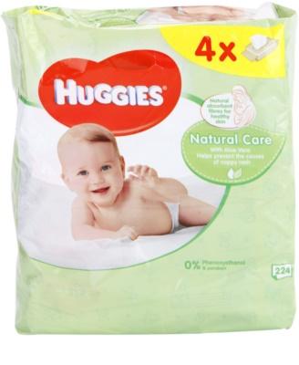 Huggies Natural Care toalhitas de limpeza com aloe vera