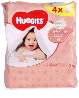 Huggies Soft Skin tisztító törlőkendő E-vitaminnal