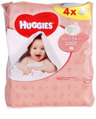 Huggies Soft Skin почистващи кърпички с витамин Е