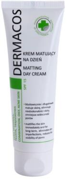 Ideepharm Dermacos Combination Oily Acne Skin mattító nappali krém SPF 15