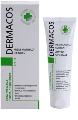 Ideepharm Dermacos Combination Oily Acne Skin mattierende Tagescreme SPF 15 1