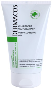 Ideepharm Dermacos Combination Oily Acne Skin mélyen tisztító gél a fénylő arcbőr és a kitágult pórusok ellen