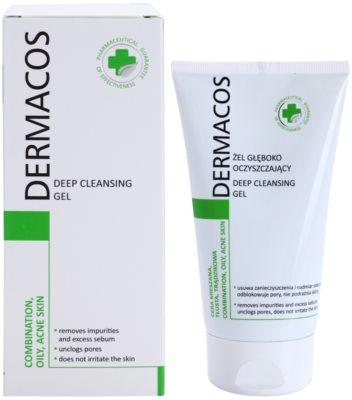 Ideepharm Dermacos Combination Oily Acne Skin mélyen tisztító gél a fénylő arcbőr és a kitágult pórusok ellen 1