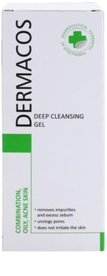 Ideepharm Dermacos Combination Oily Acne Skin mélyen tisztító gél a fénylő arcbőr és a kitágult pórusok ellen 2