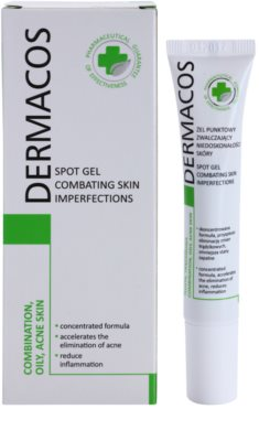 Ideepharm Dermacos Combination Oily Acne Skin helyi ápolás pattanások ellen 1