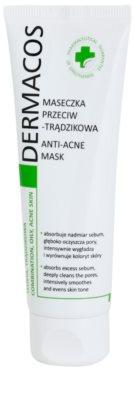 Ideepharm Dermacos Combination Oily Acne Skin tisztító maszk az aknéra hajlamos zsíros bőrre