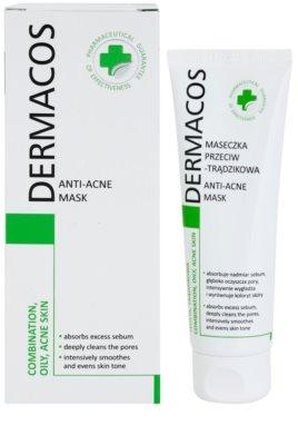 Ideepharm Dermacos Combination Oily Acne Skin очищаюча маска для жирної шкіри зі схильністю до акне 1