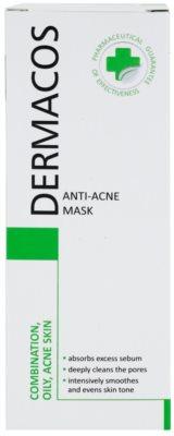 Ideepharm Dermacos Combination Oily Acne Skin очищаюча маска для жирної шкіри зі схильністю до акне 2
