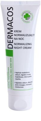 Ideepharm Dermacos Combination Oily Acne Skin éjszakai krém a faggyútermelés szabályozására