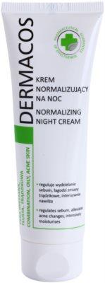 Ideepharm Dermacos Combination Oily Acne Skin нічний крем для регуляції секреції шкірних залоз