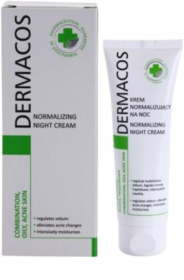Ideepharm Dermacos Combination Oily Acne Skin нічний крем для регуляції секреції шкірних залоз 1