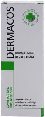 Ideepharm Dermacos Combination Oily Acne Skin нощен крем  за регулиране на себума 2