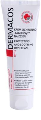 Ideepharm Dermacos Capillary védő és nyugtató krém a bőr kipirosodásának megszüntetéséért SPF 15