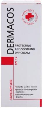 Ideepharm Dermacos Capillary schützende und beruhigende Creme zur Reduktion von Hautrötungen SPF 15 2