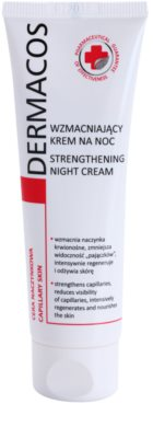 Ideepharm Dermacos Capillary krepilna nočna krema, ki preprečuje pokanje in tvorbo novih razširjenih žilic