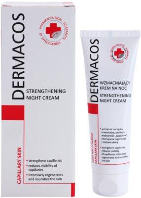 Ideepharm Dermacos Capillary krepilna nočna krema, ki preprečuje pokanje in tvorbo novih razširjenih žilic 1