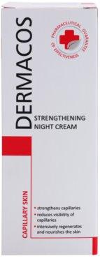 Ideepharm Dermacos Capillary krepilna nočna krema, ki preprečuje pokanje in tvorbo novih razširjenih žilic 2