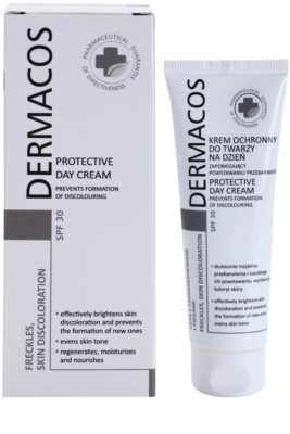 Ideepharm Dermacos Freckles Skin Discoloration дневен предпазващ крем  SPF 30 1