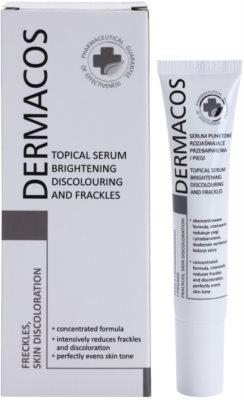 Ideepharm Dermacos Freckles Skin Discoloration ser cu efect iluminator pentru piele cu hiperpigmentare 1