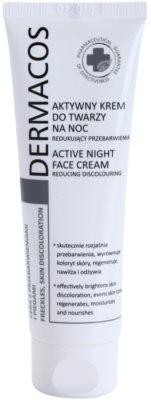 Ideepharm Dermacos Freckles Skin Discoloration crema de noapte iluminatoare pentru piele cu hiperpigmentare