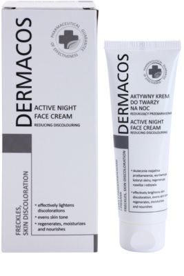 Ideepharm Dermacos Freckles Skin Discoloration crema aclaradora de noche para pieles hiperpigmentadas 1