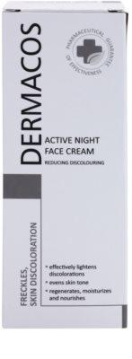 Ideepharm Dermacos Freckles Skin Discoloration crema aclaradora de noche para pieles hiperpigmentadas 2