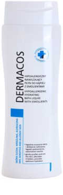 Ideepharm Dermacos Dry Sensitive Allergic Skin espuma de banho hidratante hipoalergénica para pele fina e lisa