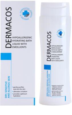 Ideepharm Dermacos Dry Sensitive Allergic Skin Spuma de baie hidratanta hipoalergenica pentru piele neteda si delicata 1
