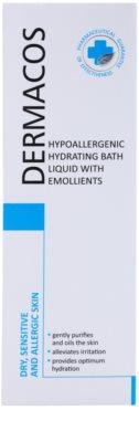 Ideepharm Dermacos Dry Sensitive Allergic Skin Spuma de baie hidratanta hipoalergenica pentru piele neteda si delicata 2