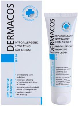 Ideepharm Dermacos Dry Sensitive Allergic Skin hypoallergene feuchtigkeitsspendende Tagescreme SPF 30 1