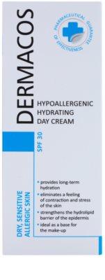 Ideepharm Dermacos Dry Sensitive Allergic Skin hypoallergene feuchtigkeitsspendende Tagescreme SPF 30 2