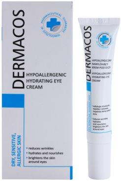 Ideepharm Dermacos Dry Sensitive Allergic Skin crema hipoalérgica para contorno de ojos  con efecto humectante 1
