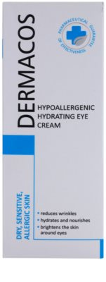 Ideepharm Dermacos Dry Sensitive Allergic Skin crema hipoalérgica para contorno de ojos  con efecto humectante 2