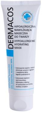 Ideepharm Dermacos Dry Sensitive Allergic Skin hipoalergiczna maseczka do twarzy nawilżająca