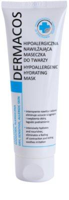 Ideepharm Dermacos Dry Sensitive Allergic Skin hypoallergene Gesichtsmaske Feuchtigkeit spendend