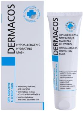 Ideepharm Dermacos Dry Sensitive Allergic Skin хипоалергенна маска хидратиращ 1