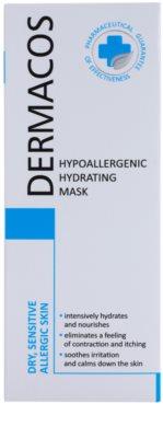 Ideepharm Dermacos Dry Sensitive Allergic Skin хипоалергенна маска хидратиращ 2