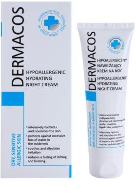 Ideepharm Dermacos Dry Sensitive Allergic Skin hipoallergén éjszakai krém hidratáló hatással 1