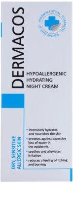 Ideepharm Dermacos Dry Sensitive Allergic Skin hipoallergén éjszakai krém hidratáló hatással 2
