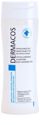 Ideepharm Dermacos Dry Sensitive Allergic Skin hipoallergén tusfürdő hidratáló hatással