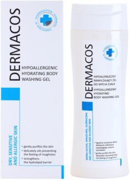 Ideepharm Dermacos Dry Sensitive Allergic Skin hypoalergénny sprchový gél s hydratačným účinkom 1