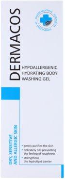Ideepharm Dermacos Dry Sensitive Allergic Skin hypoalergénny sprchový gél s hydratačným účinkom 2