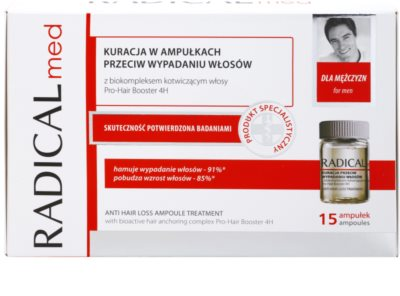 Ideepharm Radical Med Anti Hair Loss третиращ серум против косопад за мъже 2