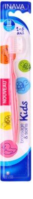 Inava Kids gyermek fogkefe fedővel