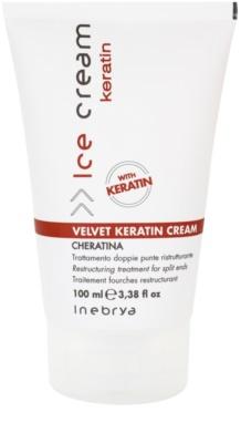 Inebrya Keratin szerkezetátalakítási krém a hajra a töredezett hajvégekre